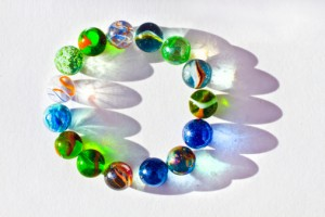 Marbles in a circle